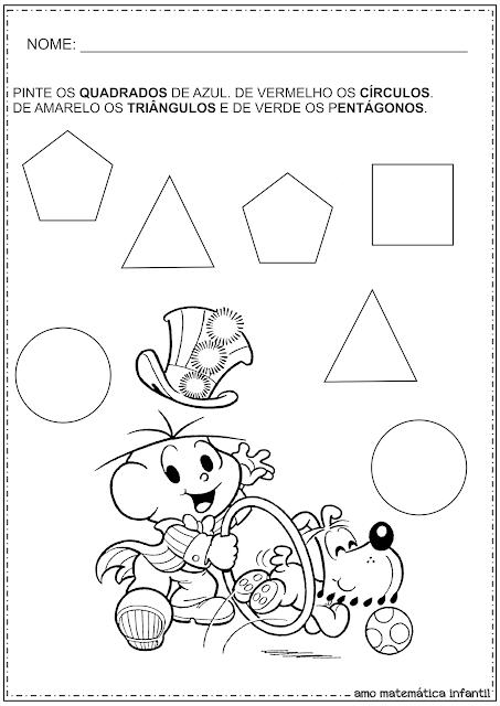 Formas Geométricas Circo Atividades Turma da Mônica