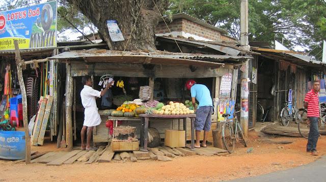 Puestecillo de verduras en Sri Lanka