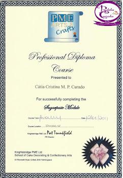 Diploma Profissional PME - Decoração com Pasta de Açucar