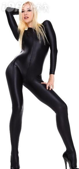 Sexy black catsuit