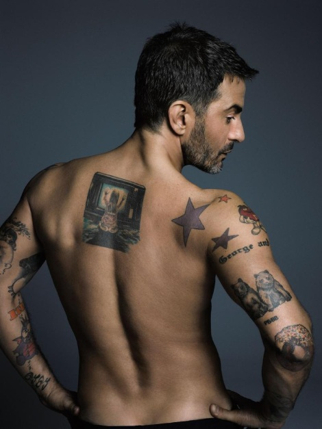 Marc Jacobs poltergeist tattoo on back