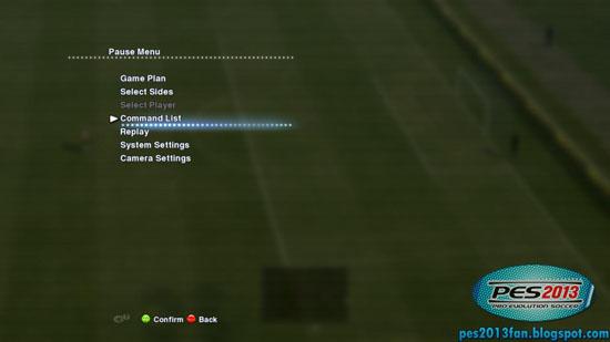 ดูวิธีการเล่นใน PES 2013 เอง