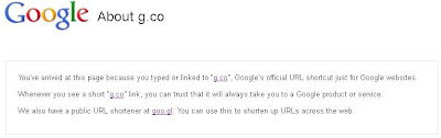 Google URL Shortener g.co