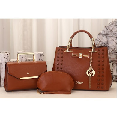DIOR DESIGNER BAG (3 IN 1 SET) - BROWN