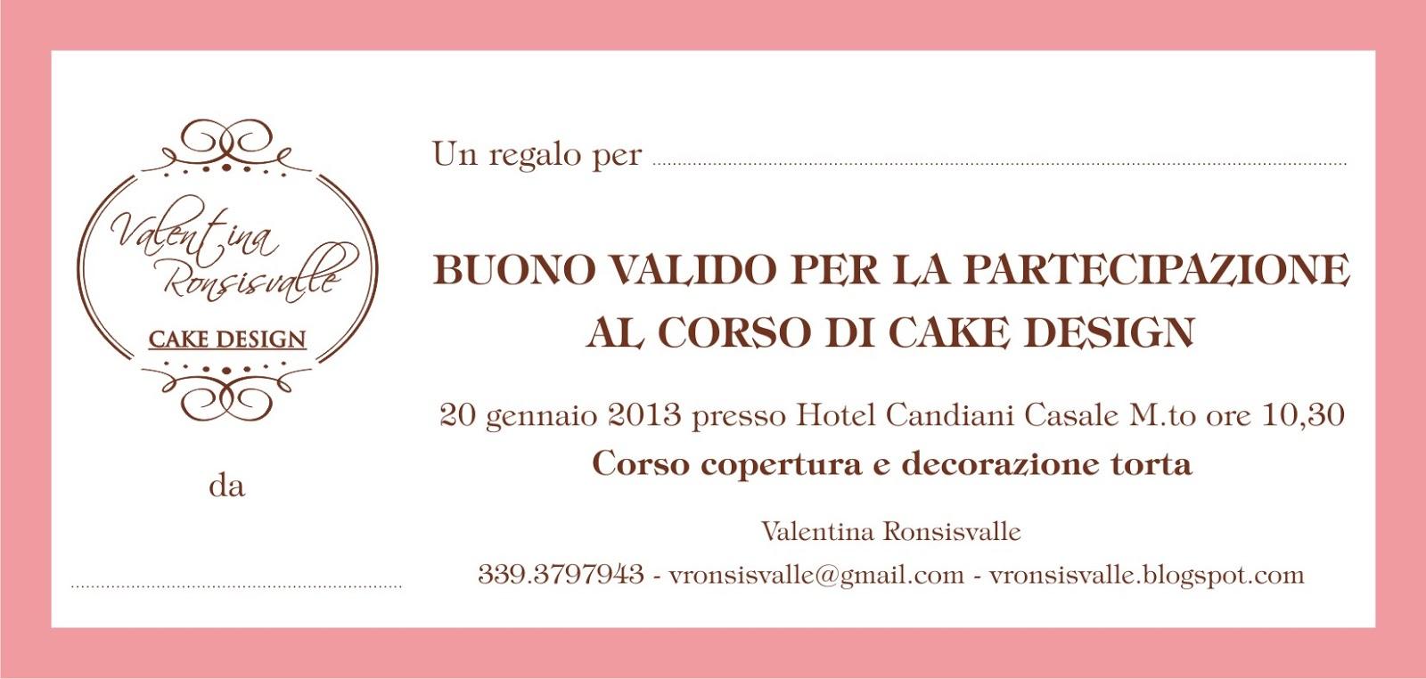 Corso Di Cake Design Gratuito Roma : Valentina Ronsisvalle Patisserie & Cake design: un regalo ...