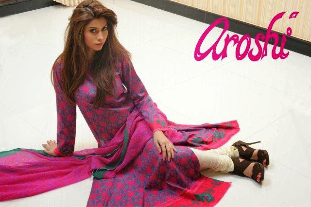 Aroshi New Stylish Winter Dresses Collection 2013-2014 For Women And Girls Fashion