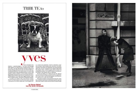 Tribute To Yves by Steven Meisel for Vogue Italia