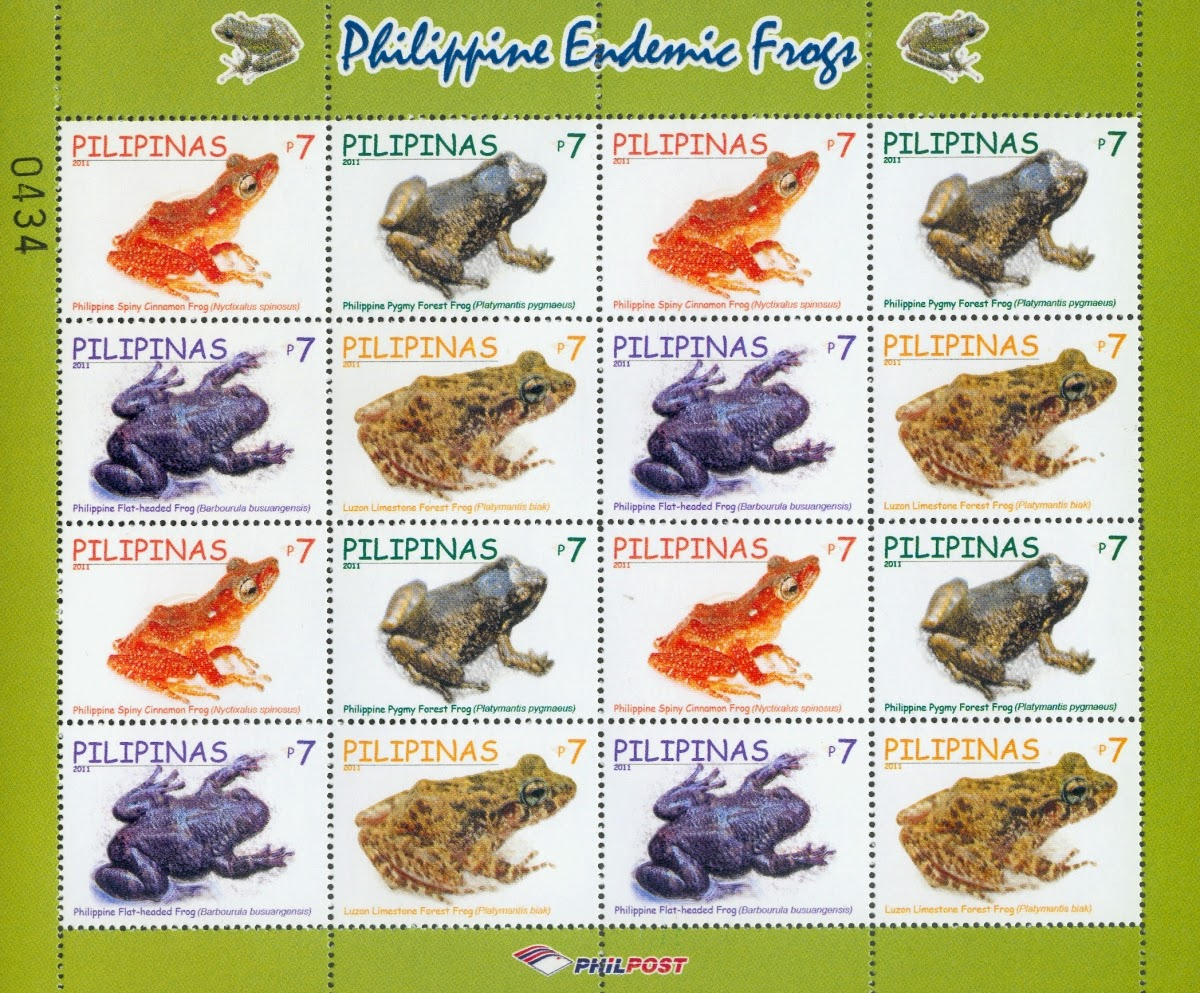 My Philately: Endemic frogs from Philippine