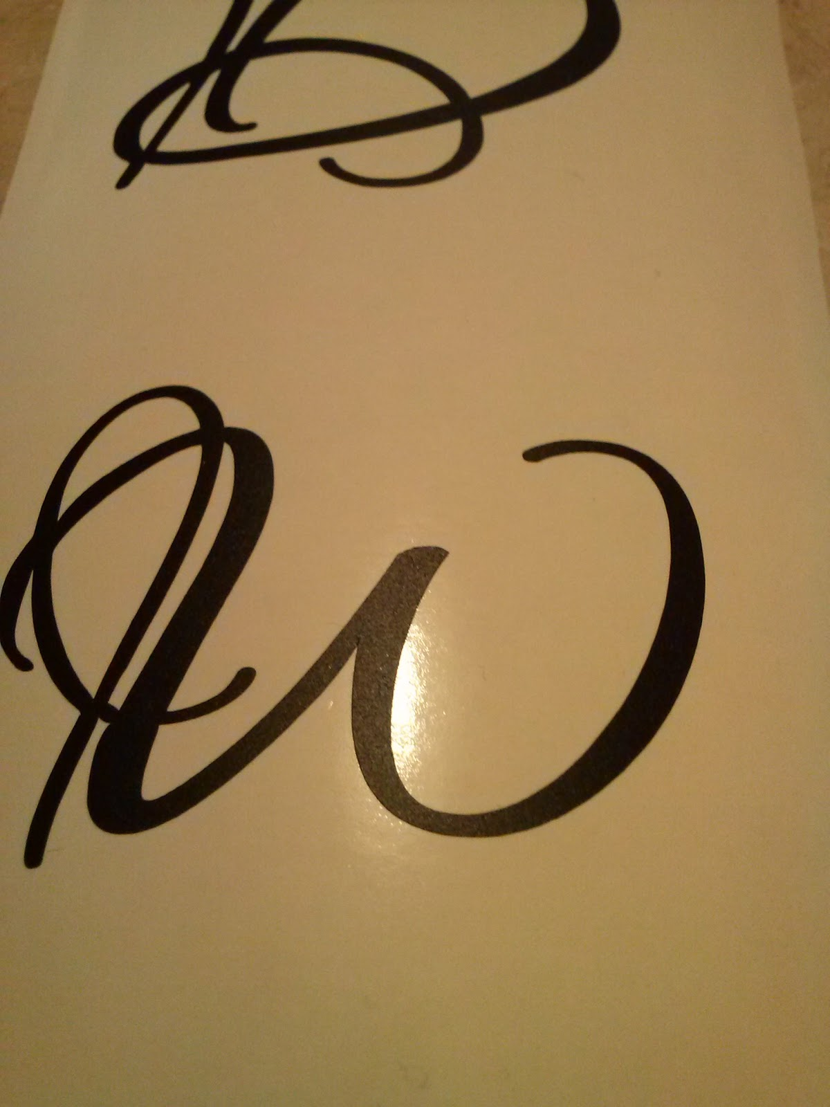 DIY wine glass kit monogram W