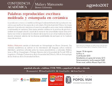 Actividades en agosto Museo Popol Vuh