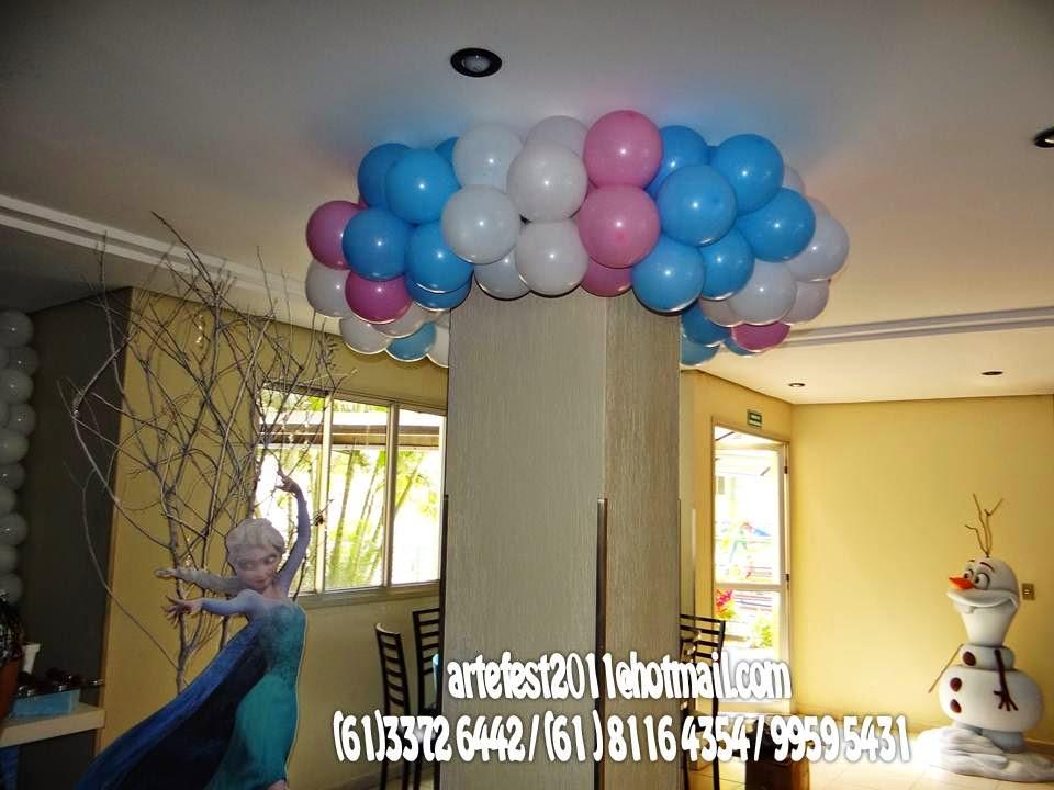 ARTEFEST  DECORAÇÃO PROVENÇAL Decoração de balão  Frozen