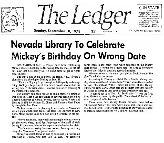 """From """"The Ledger"""", Sep. 10, 1978"""