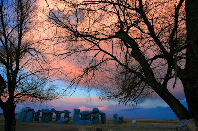 Carhenge at Sunset. Photo by WillyZ.