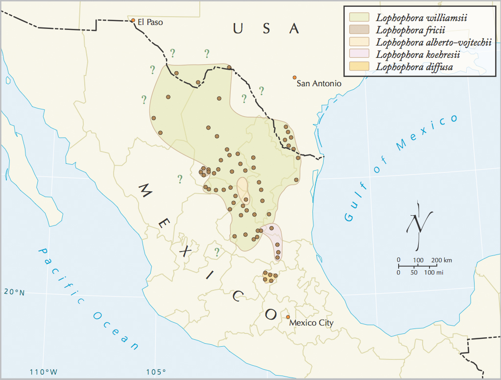 geographic distribution of lophophora html united states map southeast region