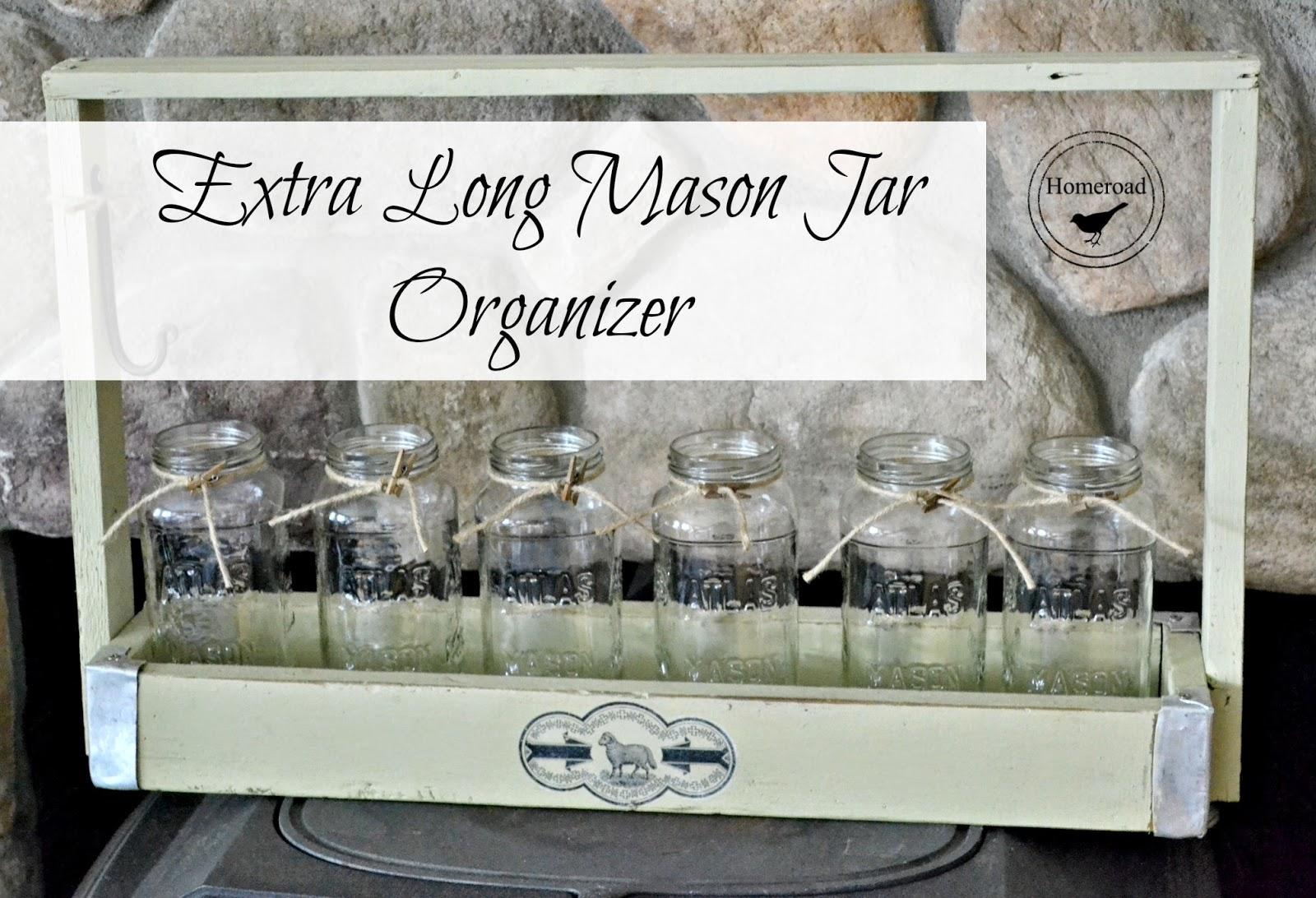 extra long mason jar organizer www.homeroad.net