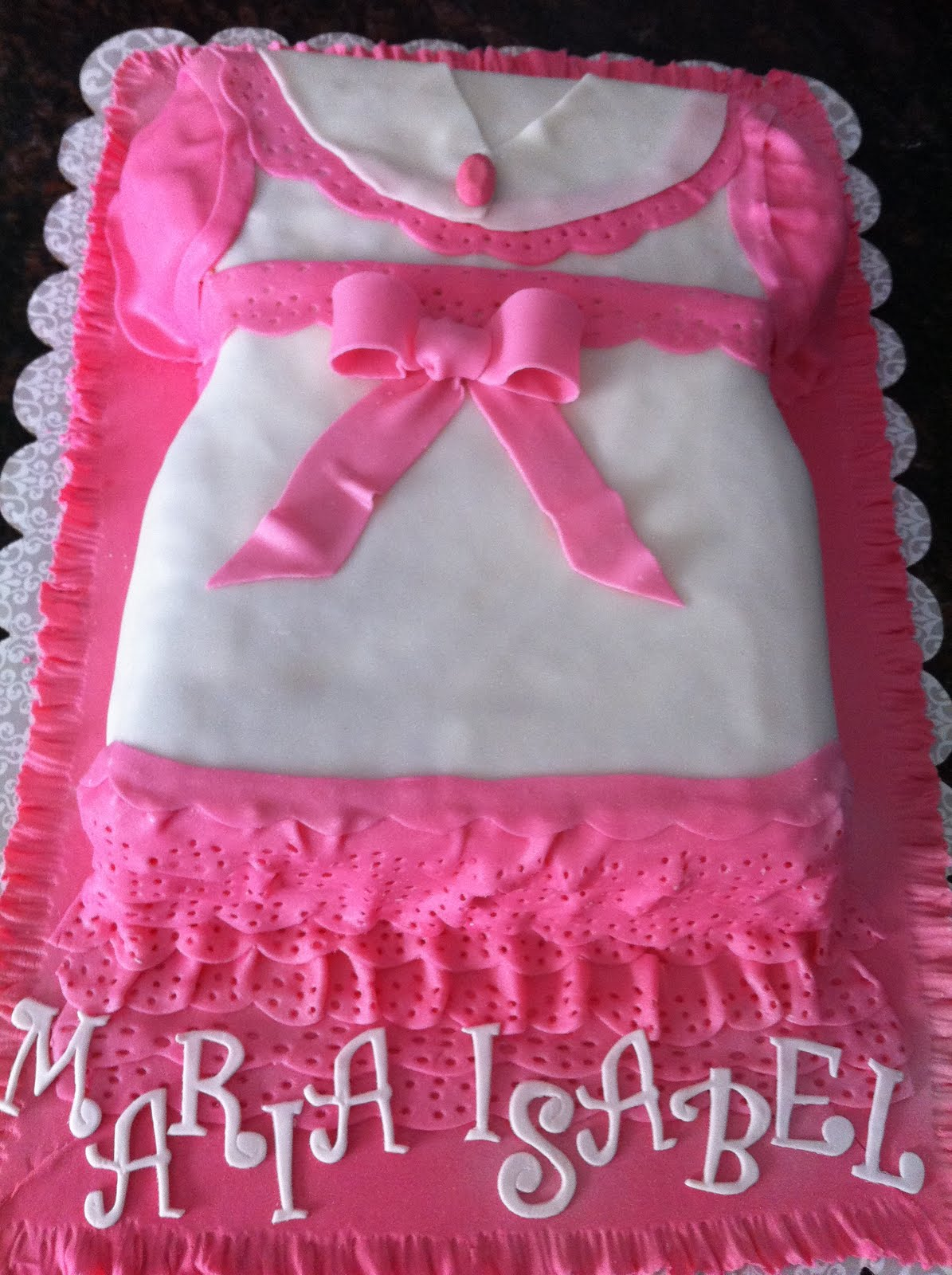 Christening Baby Girl Dress Cake My Sweet Zepol