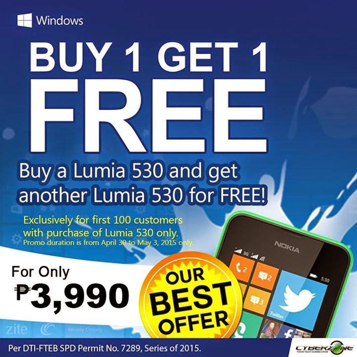 Lumia 530 Buy 1 Get 1 Promo
