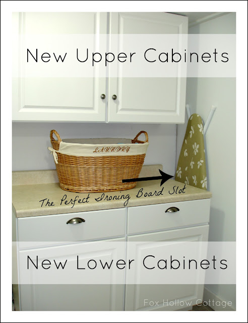 DIY cabinet install - White basement bathroom makeover