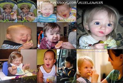 صور لأشكال الاطفال عندما يأكلون الليمون .. بجد مضحكة جدااا xD