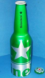 HEINEKEN Aluminium Bottle. EMPTY. NO ALCOHOL. NO LIQUID