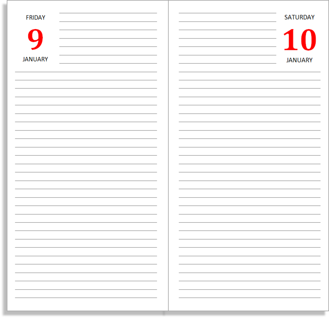 My Life All in One Place June 2014 – Diary Paper Template