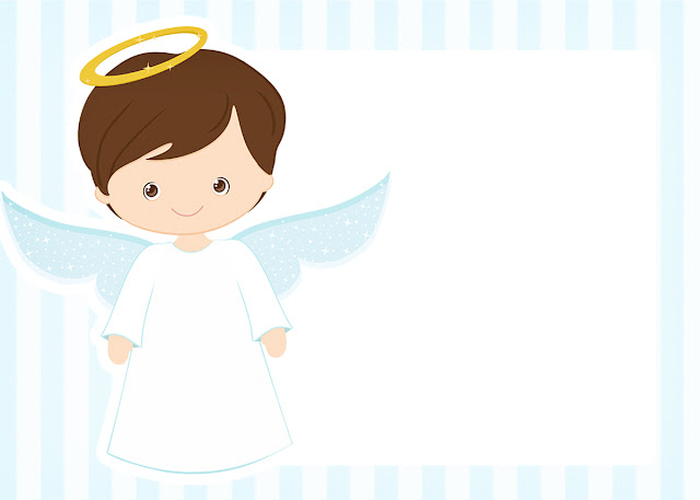 Cute angel boy free printable invitations oh my baby cute angel boy free printable invitations labels or cards stopboris Images
