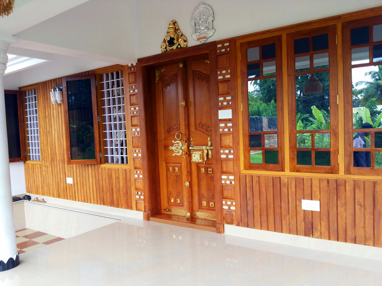 Ground Floor Front Elevation Designs In : Furnished house with photos kerala home design and floor