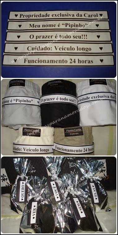 kit de cuecas para namorado
