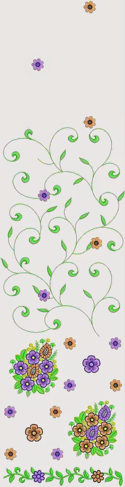 Nice wol draad borduurwerk Multi Sari