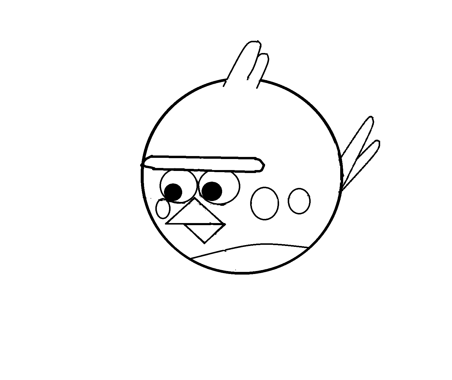how to draw angry birds bomb