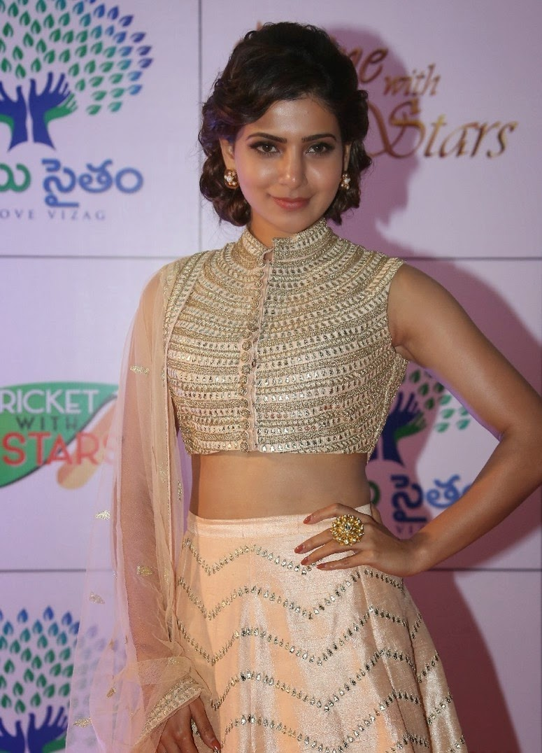 Actress Samantha Ruth Prabhu Latest Cute Hot Exclusive Beautiful Navel Show Spicy Photos Gallery At Memu Saitam Dine With Stars Event