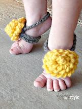 Free Crochet Baby Barefoot Sandals