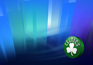 Boston Celtics Posters Wallpapers Left Rotated Logo in classic Crystal Landscape background