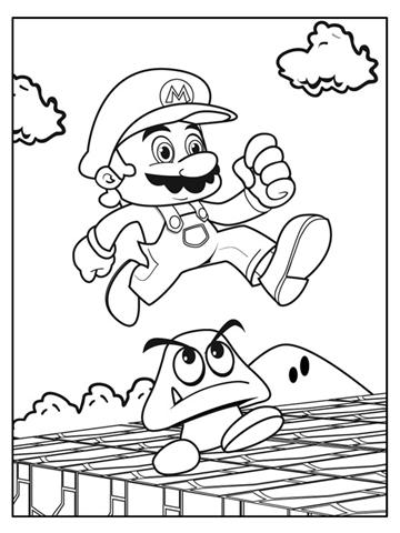 Mario Bros Coloring Pages | Fantasy Coloring Pages