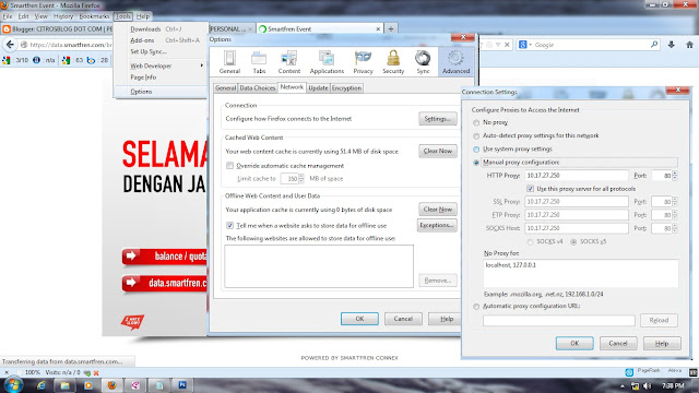 Cara Internet Gratis Dengan SmartFren (No Software Needed)