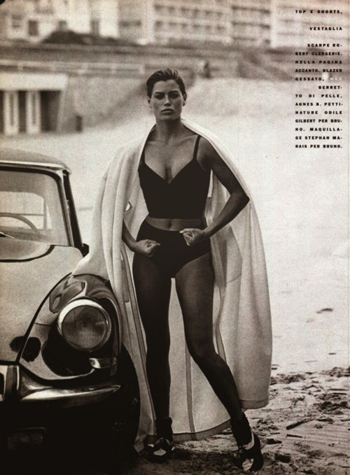 Carré Otis photo by Peter Lindbergh Vogue Italia, January 1990