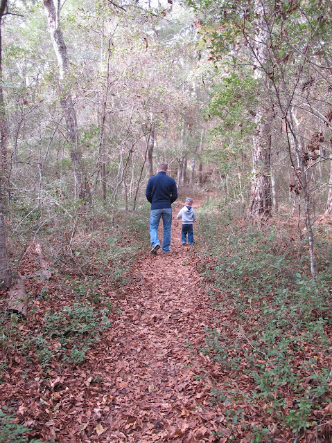 Daddy & Porter Walking