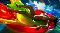 Lindsay Lohan hot bikini wallpaper