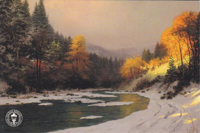 Thomas Kinkade Autumn Snow5
