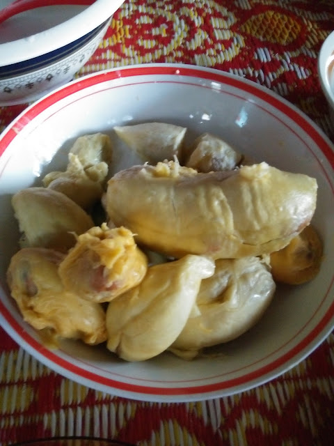 Pulut durian simple