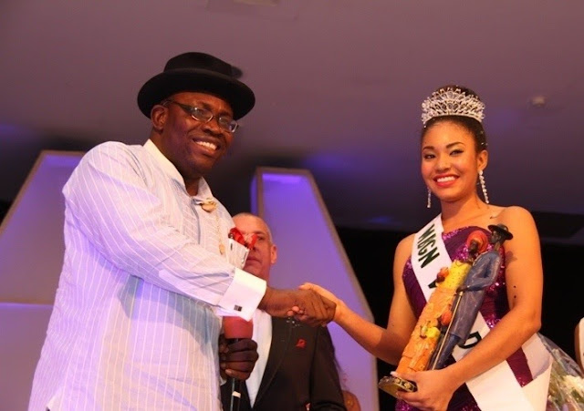 Miss Most Beautiful Girl in Nigeria 2013 winner Anna Ebiere Banner