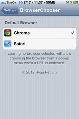 browserchooser app for iPhone