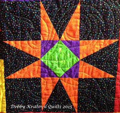 Debby Kratovil Quilts Galaxy Of Stars August Block Of The