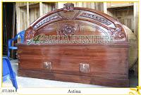 Tempat tidur ukiran Jepara kayu jati Astina