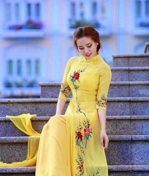 Ảnh gái đẹp diệu dàng trong tà áo dài 10