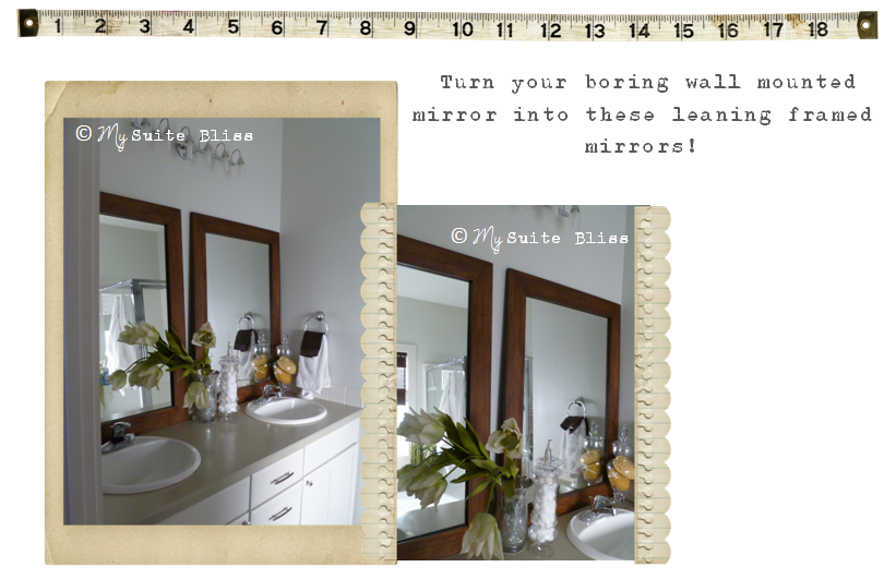 My Suite Bliss DIY Bathroom Mirror