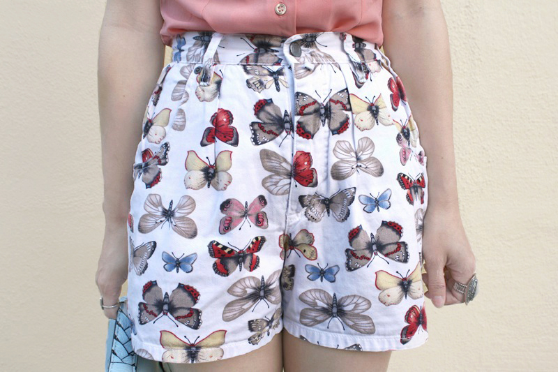 butterfly shorts, printed shorts, patterned