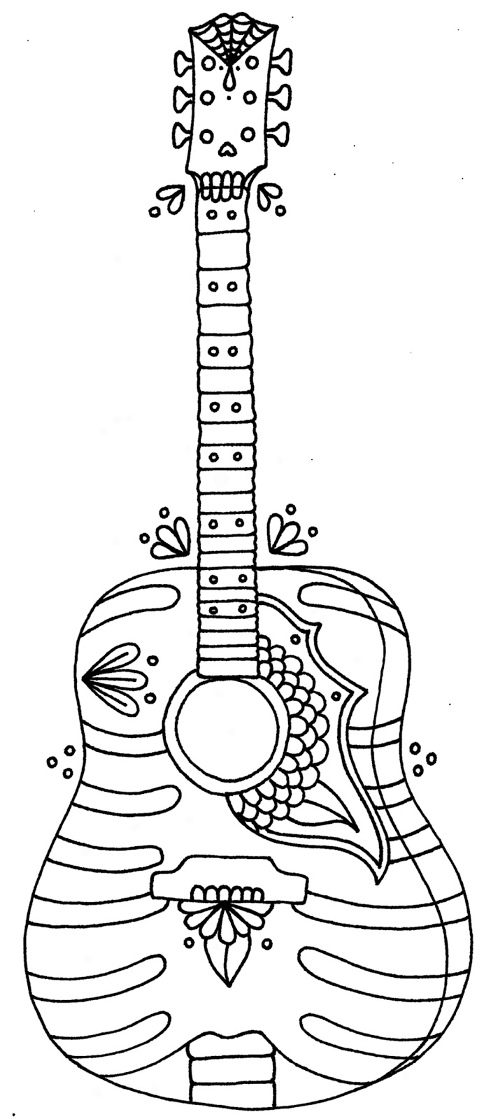 gitar coloring pages - photo#26