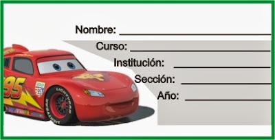 etiqueta de carro para el cuaderno