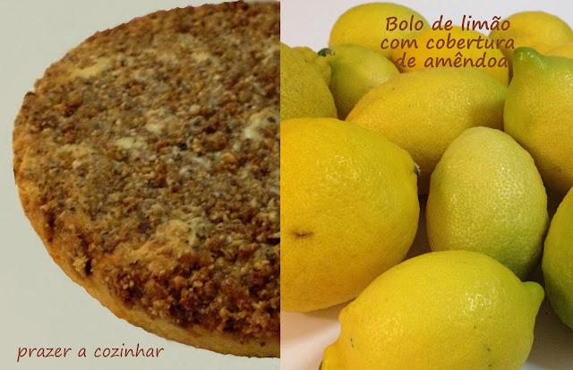 prazer a cozinhar - bolo de limão com cobertura de amêndoas